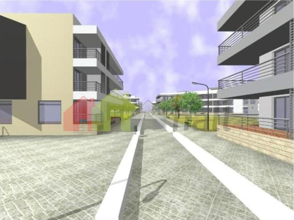 Projeto 3D com zona pedonal