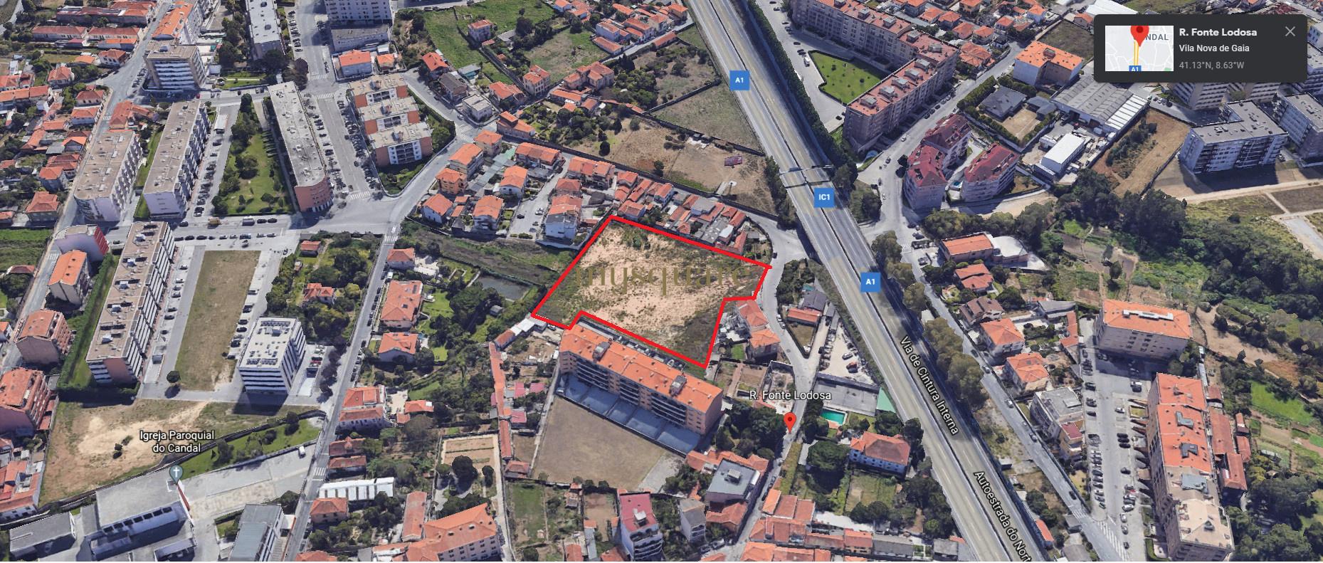 Construção em altura de 17091m2 a 2 min do acesso à A1, Santa Marinha em Vila Nova de Gaia